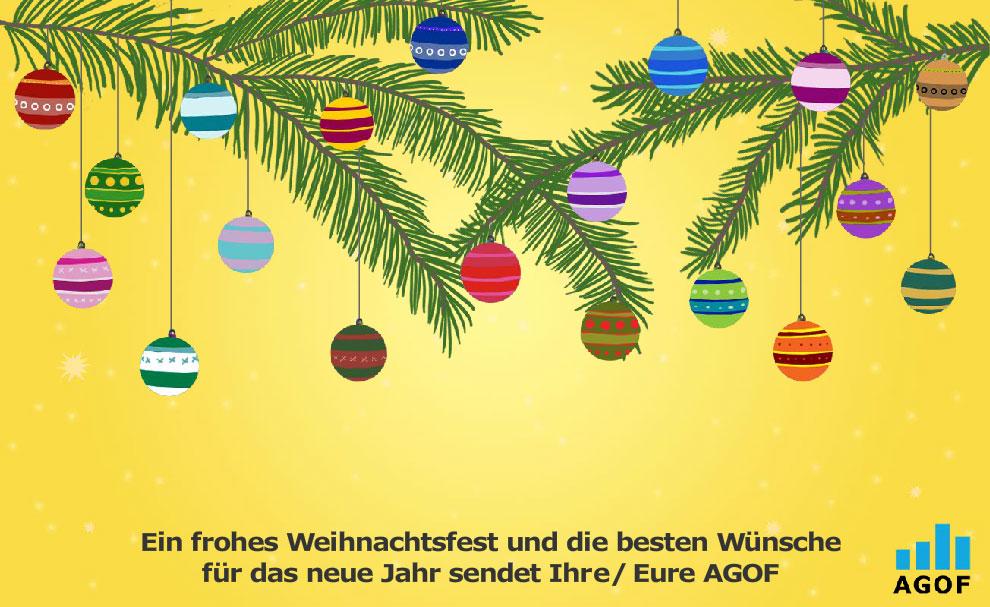 Die AGOF wünscht Frohe Weihnachten 2017 - agof