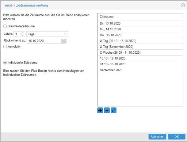 Screenshot TOP basic Zeitraumauswertung